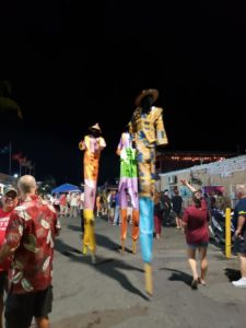 Mocko Jumbies at Jump Up in Christiansted, St. Croix, U.S. Virgin Islands