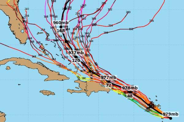 Hurricane Maria spaghetti model